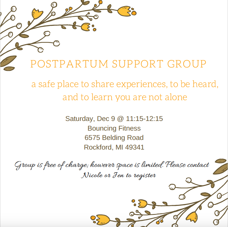 postpartum support group dec 9th 2017 health for life grand rapids