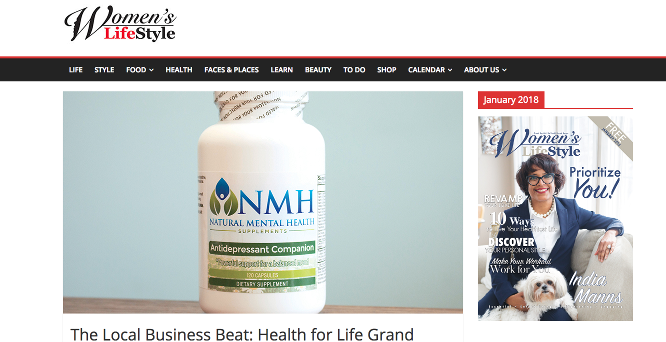 Health for Life Grand Rapids was featured in Women's Life Style Magazine 2018