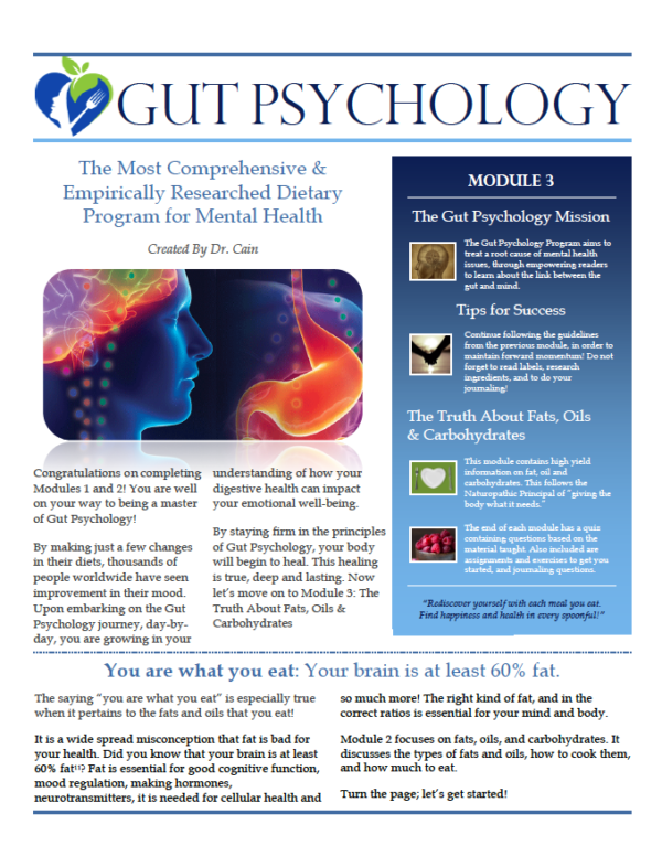 Gut Psychology by Nicole Cain, ND MA